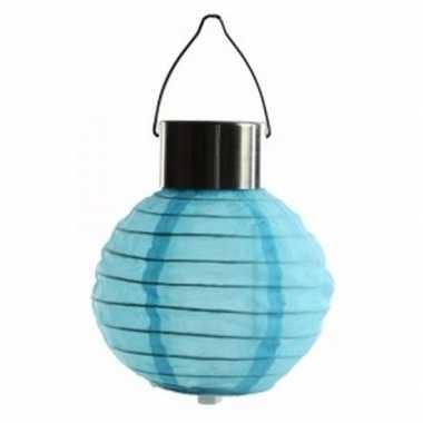 Blauwe lampion zonne energie buiten