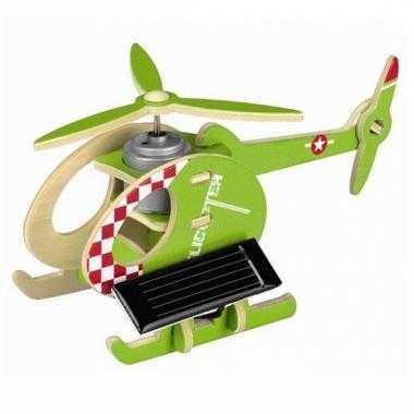 D helikopter puzzel blauw groen