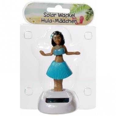 Dansend hawaii meisje blauw solar