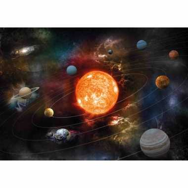 Poster planeten zonnestelsel / melkweg kinderkamer / school