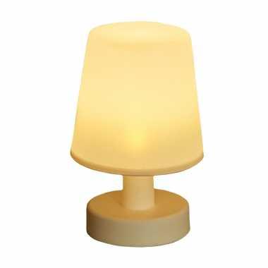 Solar tafellamp/schemerlamp wit binnen/buiten
