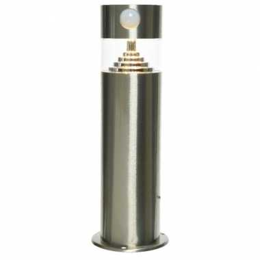 Solar tuinlamp/prikspot bewegingssensor cilinder zonne energie