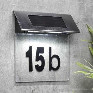 Transparante solar huisnummer plaat led licht