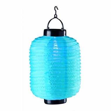 Tuin / balkon lampion zonne energie blauw