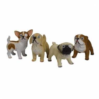 Tuinbeeld franse bulldog led oogjes c m