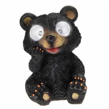 Tuinbeeldje beer led oogjes c m