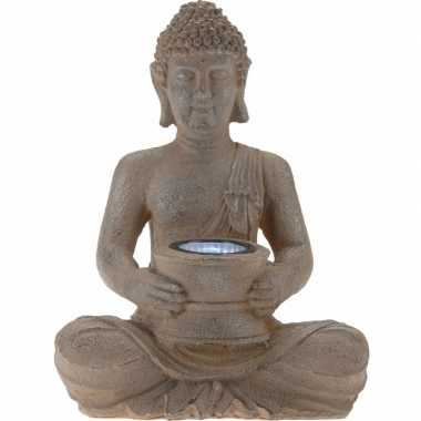 Tuinlampjes bruine boeddha zonne energie