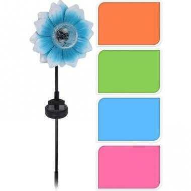 Tuinverlichting blauwe bloem