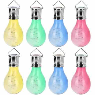X solar hang lampenbolletjes gekleurd zonne energie tuinverlichting