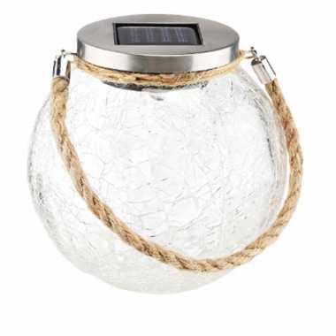 X solar lampen glazen pot zonne energie tuinverlichting