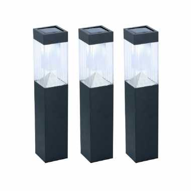 X solar tuinlampen pilaar/paal zonne energie tuinverlichting