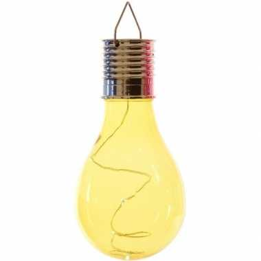X solarlamp lampbolletje/peertje zonne energie geel