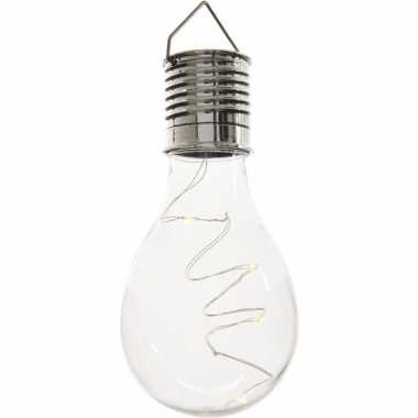 X solarlamp lampbolletje/peertje zonne energie transparant