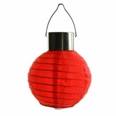 X stuks rode lampionnen zonne energie buiten