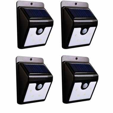 X stuks solar tuinverlichting / muurlampen led wandlamp spatwaterdicht bewegingssensor