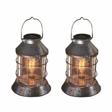 X stuks zilveren solar lantaarns antiek look