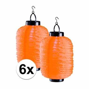 X tuin / balkon lampionnen zonne energie oranje