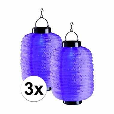 X tuin / balkon lampionnen zonne energie paars