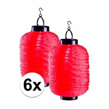 X tuin / balkon lampionnen zonne energie rood