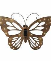 Ijzeren decoratie vlinder solar verlichting