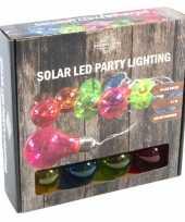 Solar feestverlichting tuinverlichting neon gekleurde lampjes
