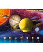 Themafeest zonnestelsel poster