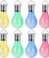 X solar hang lampenbolletjes gekleurd zonne energie tuinverlichting 10207014