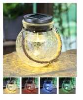 X solar lampen glazen pot zonne energie tuinverlichting 10212848