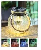 X solar lampen glazen pot zonne energie tuinverlichting 10212867