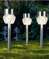 X solarlamp crystal zonne energie transparant glas rvs steker 10211911