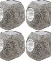 X solarlamp steen zonne energie koel witte verlichting 10172558