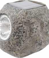 X solarlamp steen zonne energie koel witte verlichting