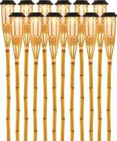 X solarlamp vlam fakkel bodi zonne energie bamboe houten steker pin 10173248