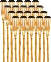 X solarlamp vlam fakkel bodi zonne energie bamboe houten steker pin 10173252